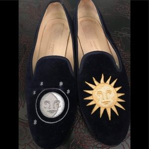 EUC AUTHENTIC STUBBS AND WOOTTON NAVY  LOAFERS 10